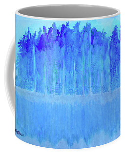 Coffee Mug featuring the mixed media Shivering Timbers by Seth Weaver