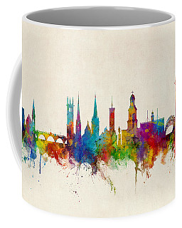 Shrewsbury England Skyline Coffee Mug