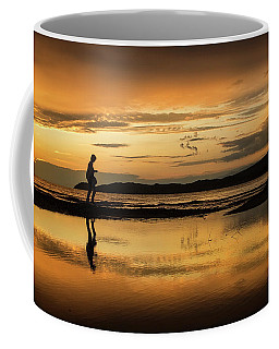 Silhouette In Sunset Coffee Mug
