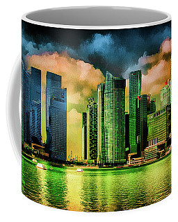 Singapore Skyline Coffee Mug by Joseph Hollingsworth