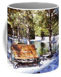 Single Bench Coffee Mug by Ricky Dean