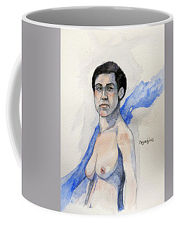 Coffee Mug featuring the painting Sketch For Gabrielle by Ray Agius