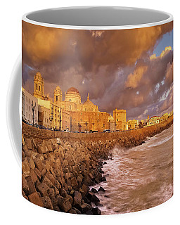 Skyline From Campo Del Sur Cadiz Spain Coffee Mug