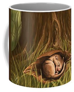 Coffee Mug featuring the painting Sleeping  by Veronica Minozzi