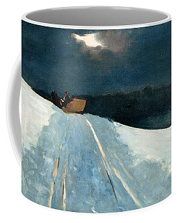 Coffee Mug featuring the painting Sleigh Ride by Winslow Homer