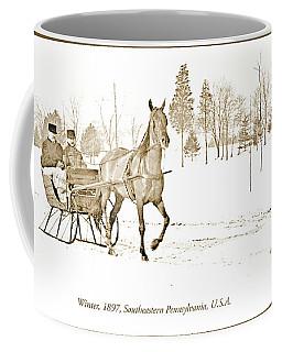 Sleigh Ride, Winter, C. 1897 Vintage Photograph Coffee Mug