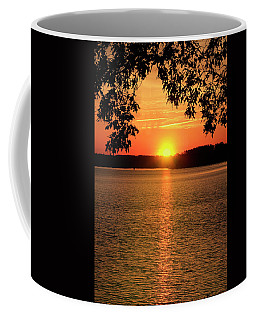 Smith Mountain Lake Silhouette Sunset Coffee Mug