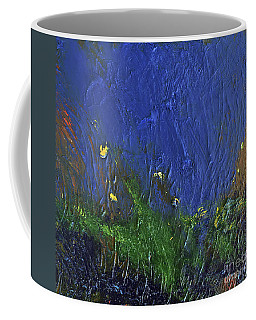 Coffee Mug featuring the painting Snorkeling by Karen Nicholson