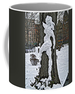 Coffee Mug featuring the photograph Snow Lady by Joan Reese