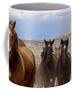 Sombrero Ranch Horse Drive, An Annual Event In Maybell, Colorado Coffee Mug
