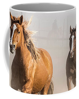 Sombrero Ranch Horse Drive At The Corrals Coffee Mug