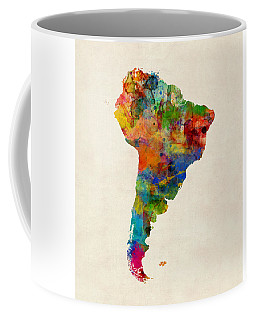 South America Watercolor Map Coffee Mug