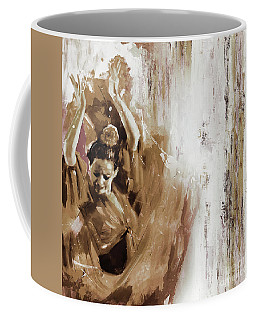 Coffee Mug featuring the painting Spanish Woman Dance  by Gull G