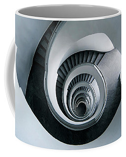 Spiral Staircase In Blue Tones Coffee Mug