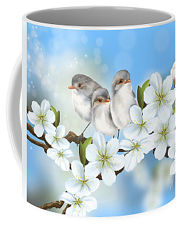Coffee Mug featuring the painting Spring Fever by Veronica Minozzi