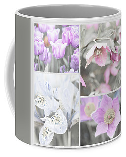 Coffee Mug featuring the photograph Spring Flower Collage. Shabby Chic Collection by Jenny Rainbow
