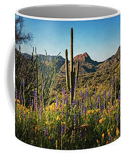 Coffee Mug featuring the photograph Spring In The Sonoran  by Saija Lehtonen