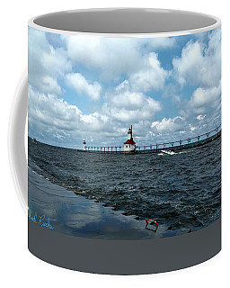 Saint Joseph Lighthouse Pier Coffee Mug