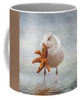 Starfish For Dinner Square Coffee Mug
