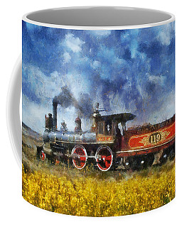 Coffee Mug featuring the photograph Steam Locomotive by Ian Mitchell