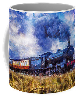 Steam Train Coffee Mug by Ian Mitchell