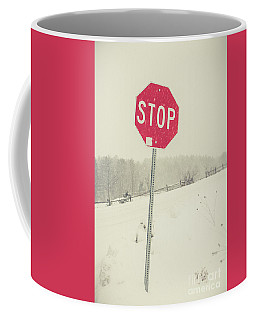 Stop Coffee Mug by Edward Fielding