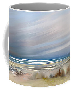 Storm Over Beach Coffee Mug by Anthony Fishburne
