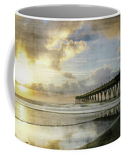 Stormy Sunrise At Johnnie Mercer's Pier Coffee Mug by Phil Mancuso