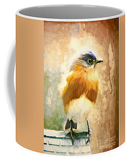 Strapping Bluebird Coffee Mug by Tina LeCour