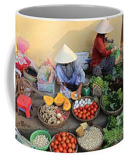 Street Merchants Hoi An Coffee Mug by Chuck Kuhn