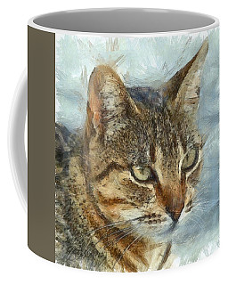 Stunning Tabby Cat Close Up Portrait Coffee Mug