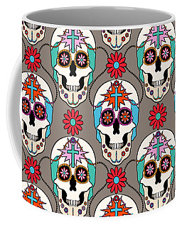 Sugar Skulls Pattern 2 Coffee Mug