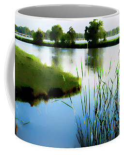 Coffee Mug featuring the mixed media Summer Dreams by Betty LaRue
