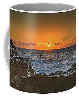 Sun Rising Over The Sea Coffee Mug