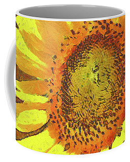 Sunflower Growing Along A Fence Coffee Mug