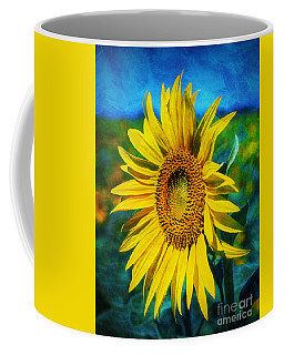 Coffee Mug featuring the digital art Sunflower by Ian Mitchell