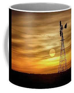 Sunset And Windmill Coffee Mug