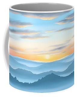 Coffee Mug featuring the painting Sunrise by Veronica Minozzi