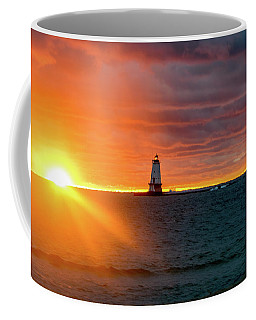 Sunset And Lighthouse Coffee Mug