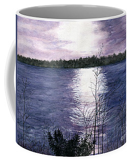 Coffee Mug featuring the painting Sunset At Niagara River New York by Melly Terpening