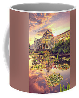 Coffee Mug featuring the photograph  Sunset At Phipps Conservatory by Emmanuel Panagiotakis