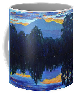 Coffee Mug featuring the painting Sunset Blue by Margaret Bobb