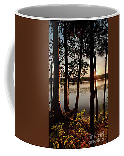 Sunset, Kennebec River, South Gardiner, Maine #8364-8368 Coffee Mug