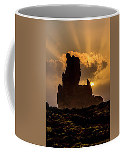 Sunset Over Cliffside Landscape Coffee Mug