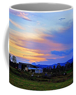 Sunset Over The Great Divide Coffee Mug