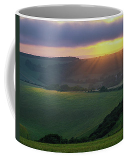 Sunset Over The South Downs Coffee Mug