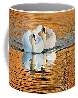Coffee Mug featuring the photograph Swimming On Gold by Darren Fisher