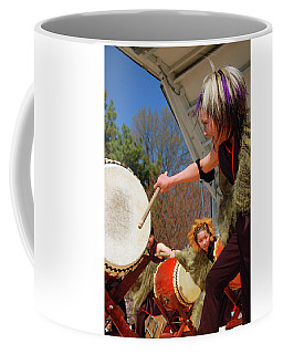 Taiko Drumming Coffee Mug by James Kirkikis
