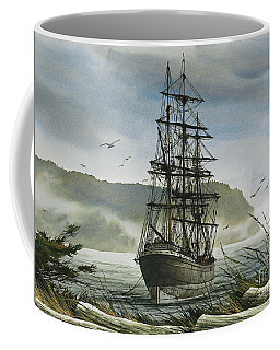Coffee Mug featuring the painting Tall Ship Cove by James Williamson