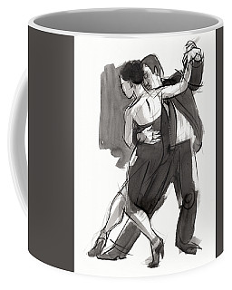 Coffee Mug featuring the painting Tango 9 by Judith Kunzle